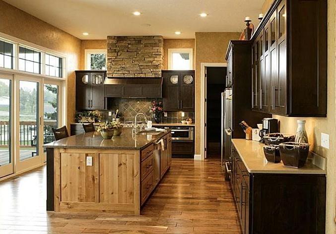 cuisine melange rustique et moderne cuisine id es de. Black Bedroom Furniture Sets. Home Design Ideas