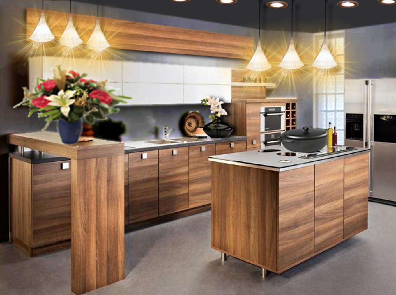 Cuisine moderne en bois massif cuisine id es de for Cuisine en bois massif moderne