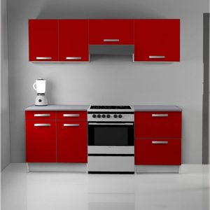 element de cuisine rouge conforama cuisine id es de. Black Bedroom Furniture Sets. Home Design Ideas