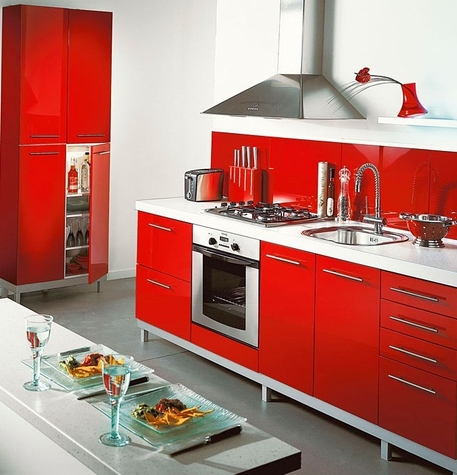 Element De Cuisine Rouge Conforama