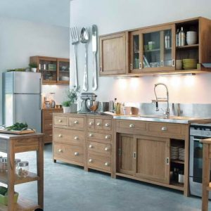 Meuble cuisine en pin massif cuisine id es de for Cuisine en teck massif