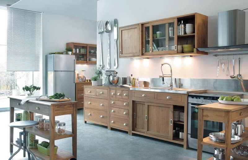 meuble bas cuisine teck massif cuisine id es de d coration de maison pklq0e0nra. Black Bedroom Furniture Sets. Home Design Ideas