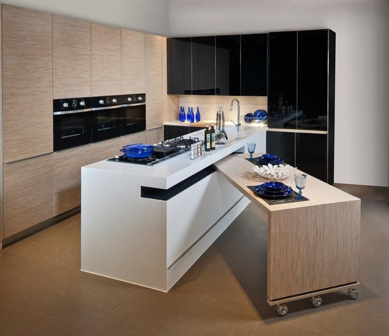Meuble cuisine avec table escamotable cuisine idees de for Idee deco cuisine avec lit escamotable
