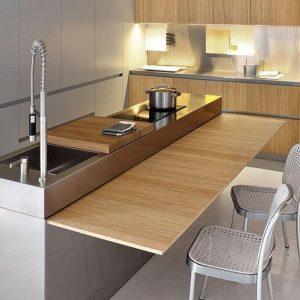 Meuble Cuisine Avec Table Retractable