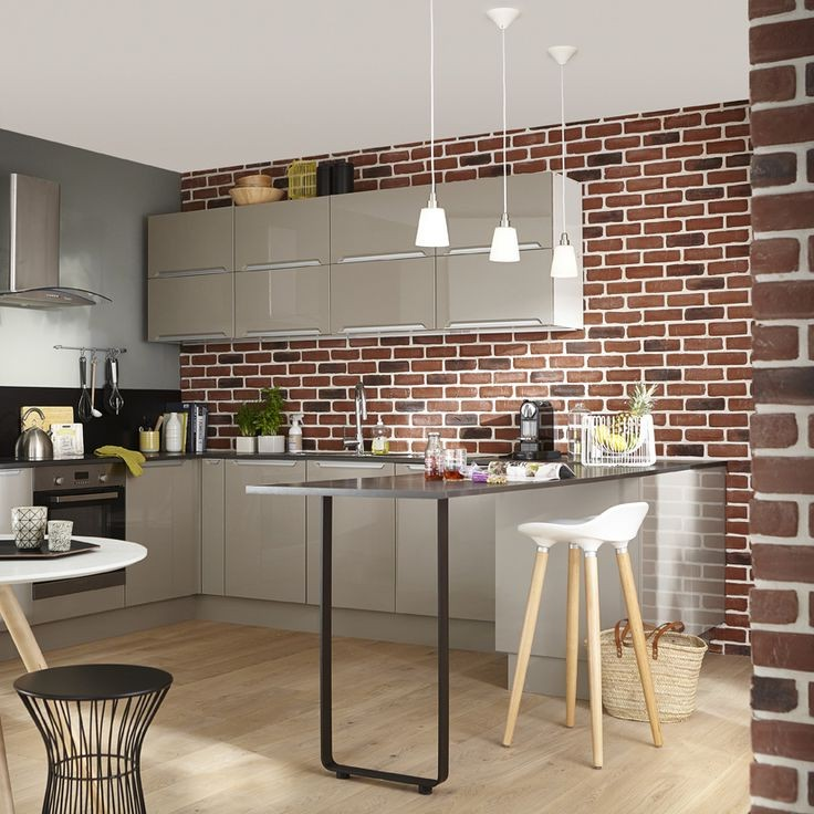 Modele de cuisine equipee en brique cuisine id es de for Modele de cuisine equipee en u
