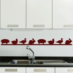 Stickers Pour Cuisine Rouge