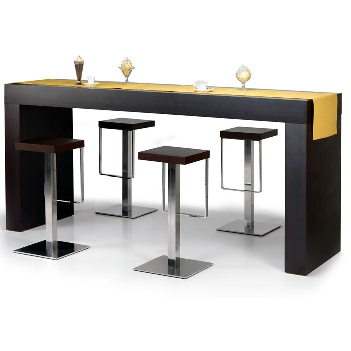 trendy table bar table haute cuisine with table de bar haute conforama. Black Bedroom Furniture Sets. Home Design Ideas