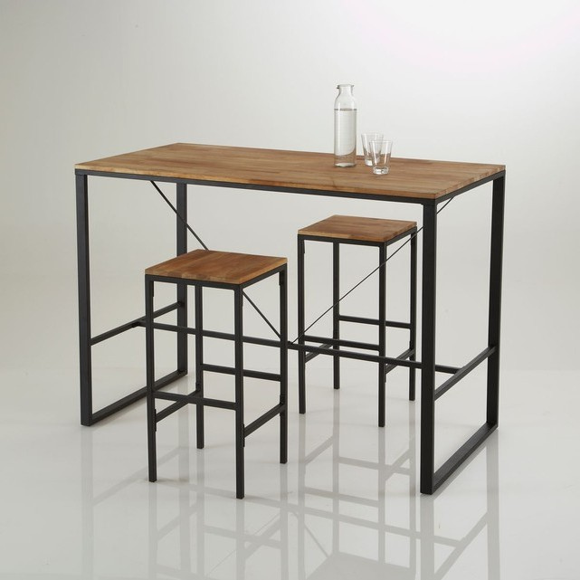 table cuisine avec tabouret encastrable cuisine id es. Black Bedroom Furniture Sets. Home Design Ideas