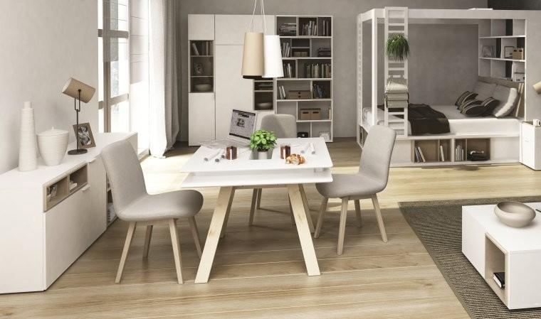 Table De Cuisine Blanche Carrée
