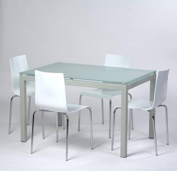 Table De Cuisine Carré En Verre