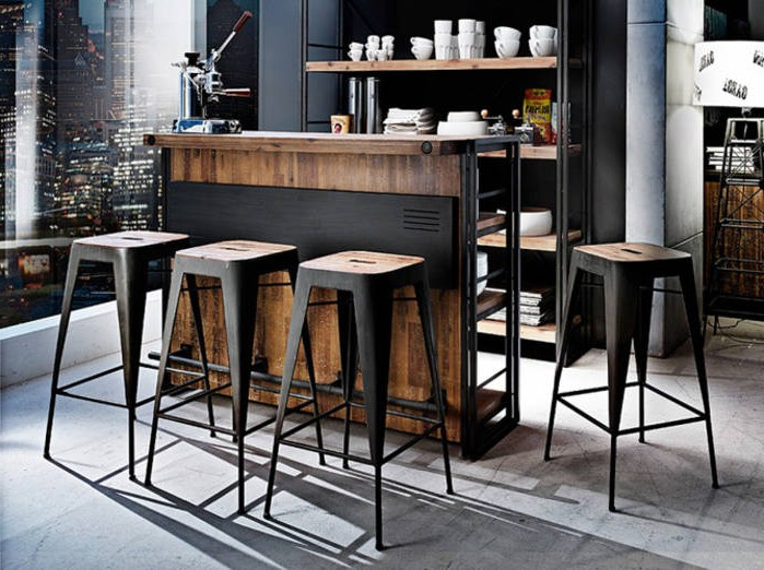 table et tabouret de bar cuisine cuisine id es de. Black Bedroom Furniture Sets. Home Design Ideas