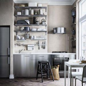 cr dence cuisine inox ikea cuisine id es de d coration de maison dzn55qknxz. Black Bedroom Furniture Sets. Home Design Ideas