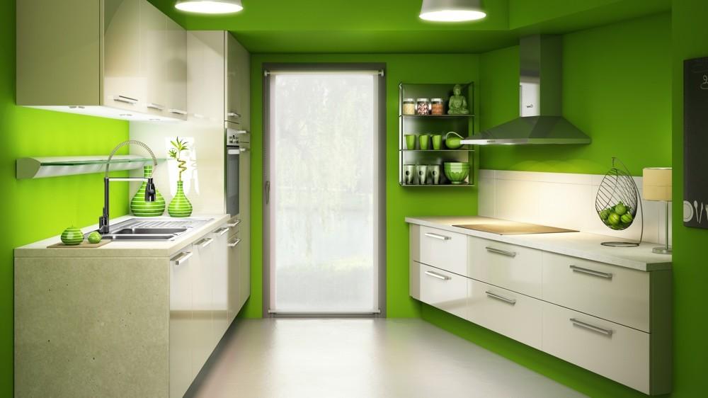 Decoration cuisine peinture vert cuisine id es de for Peinture cuisine vert