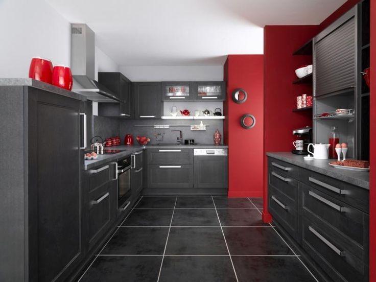 Idee peinture pour cuisine rouge cuisine id es de for Peinture rouge pour cuisine
