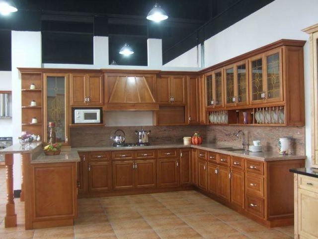 Meuble cuisine moderne en bois cuisine id es de for Meuble de cuisine en bois moderne