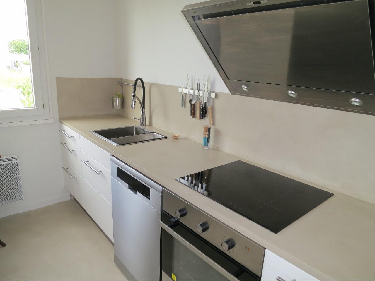 Paillasse de cuisine en b ton cir cuisine id es de for Decoration de cuisine en aluminium