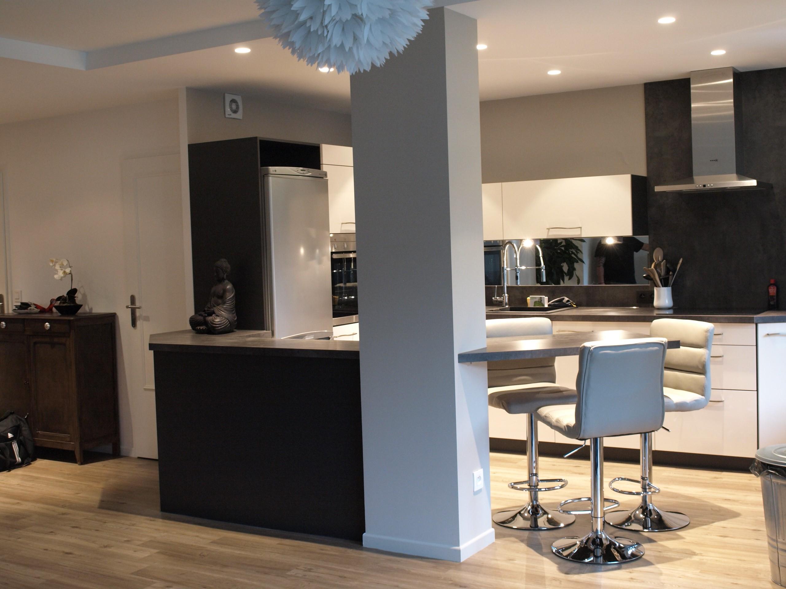 Photos cuisines ouvertes sur salon cuisine id es de for Cuisines ouvertes sur salon