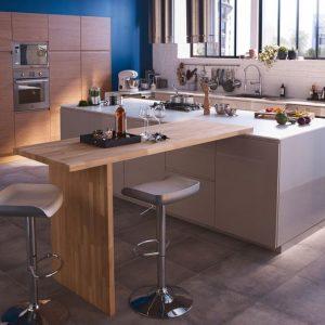 Table haute cuisine amovible cuisine id es de for Bar amovible pour cuisine