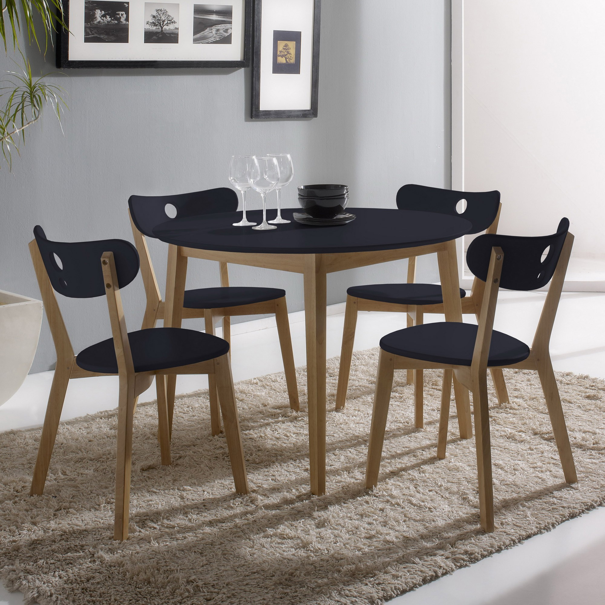 table de cuisine ronde en chene cuisine id es de. Black Bedroom Furniture Sets. Home Design Ideas