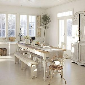 Table Et Chaise De Cuisine Rustique