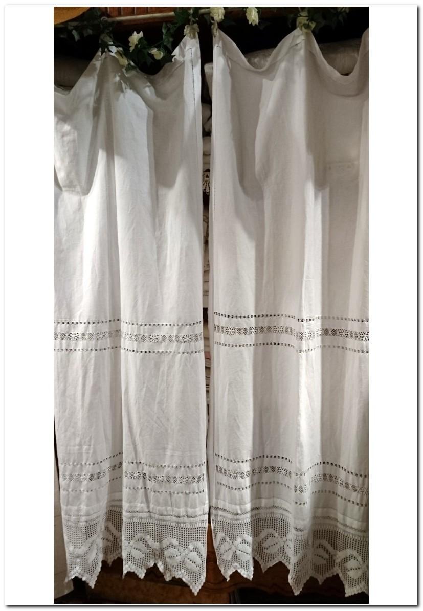 Paire De Rideaux Blanc