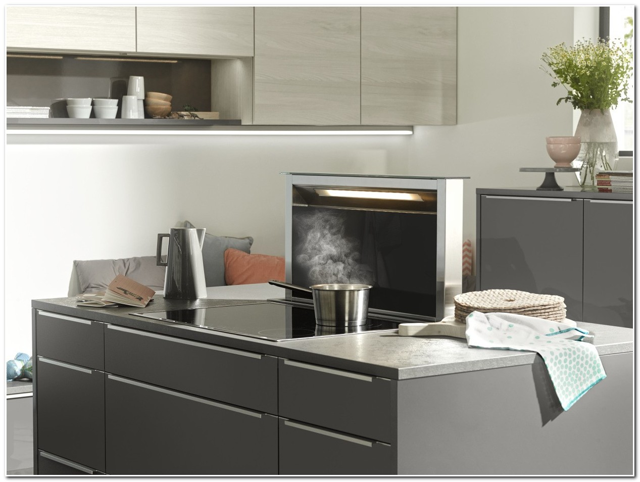 Quartz gris pour cuisine cuisine id es de d coration for Cuisine quartz