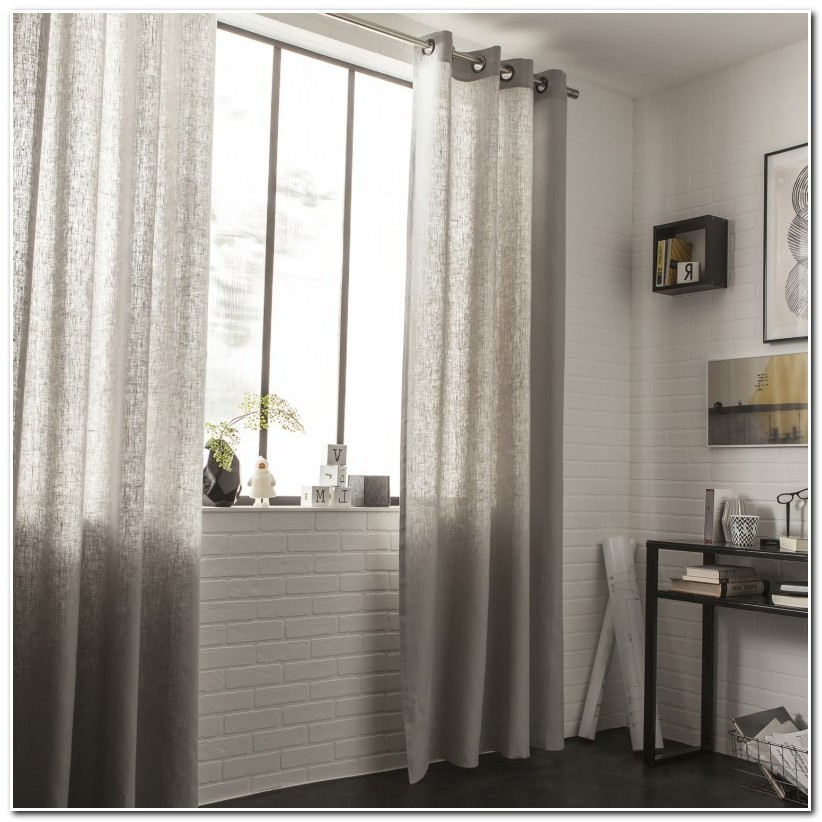 Rideau Double Voilage Taupe