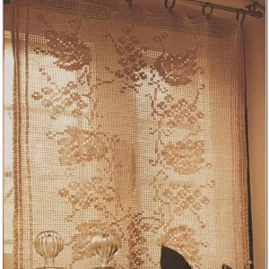 Rideau En Filet Crochet