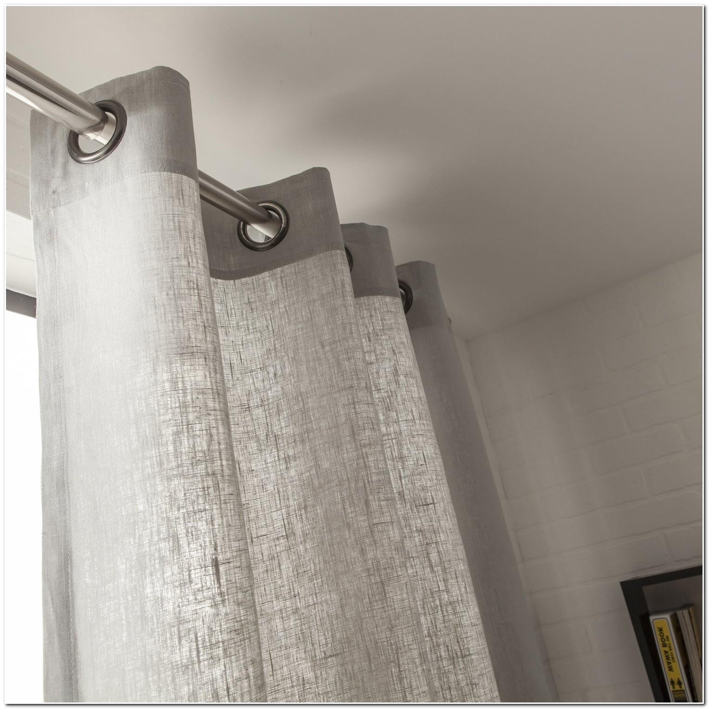 rideau en lin gris rideau id es de d coration de maison 9odovpnley. Black Bedroom Furniture Sets. Home Design Ideas