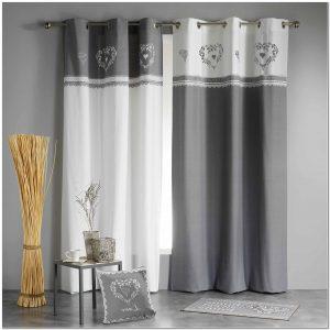 Rideau gris anthracite rideau id es de d coration de for Rideau douche la redoute