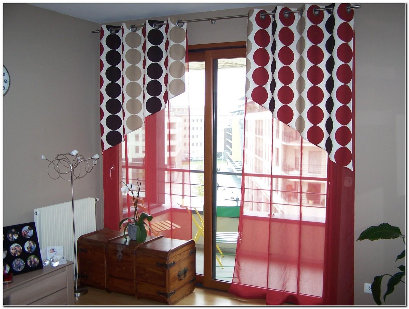 Rideau Rouge Blanc Et Gris