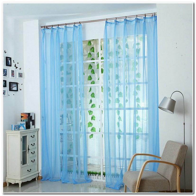 Rideaux Bleu Turquoise Et Blanc