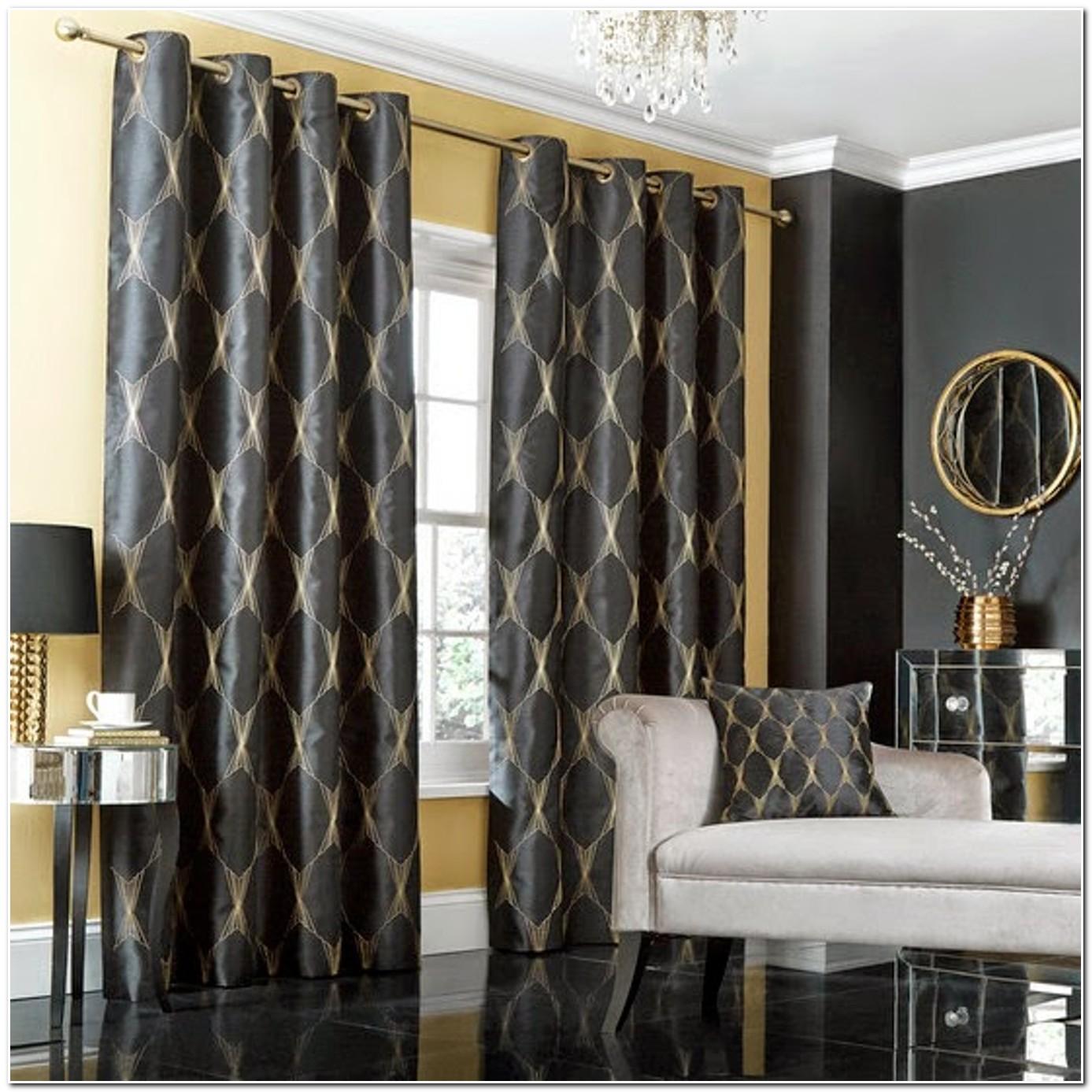Deco Salon Rideau Noir