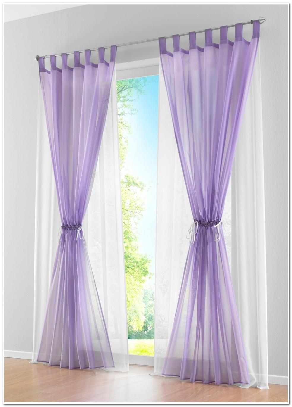 Double Rideau Violet Et Gris
