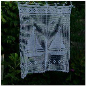 Rideau Au Crochet Filet