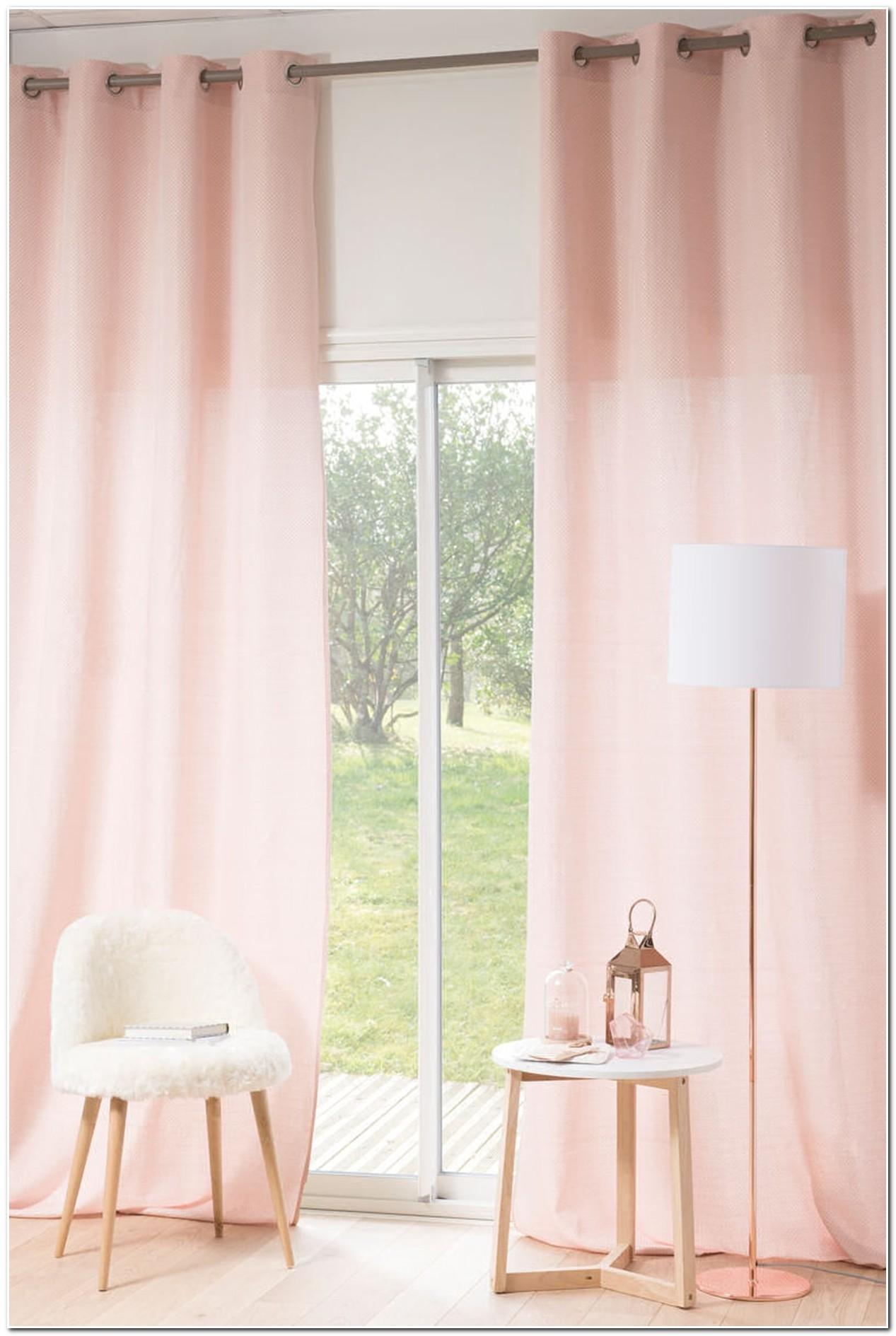 Rideau Chambre Gris Et Rose