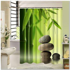 Rideau De Douche Vert Bambou