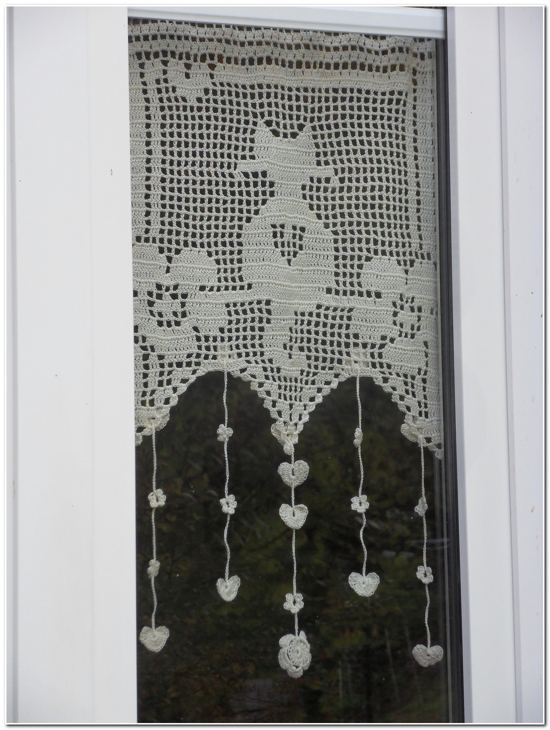 Rideau En Crochet Moderne
