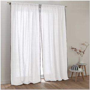 rideau occultant 100 coton rideau id es de d coration de maison 56lgoexl30. Black Bedroom Furniture Sets. Home Design Ideas