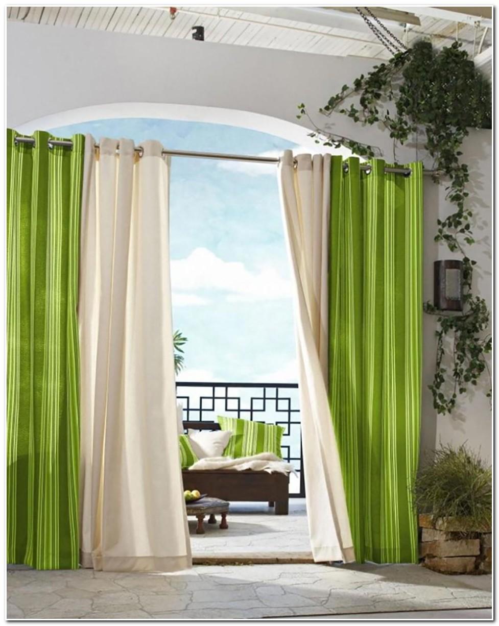 Deco Maison Rideau Vert