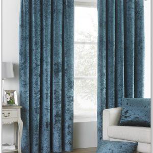 Double Rideau Velours Bleu