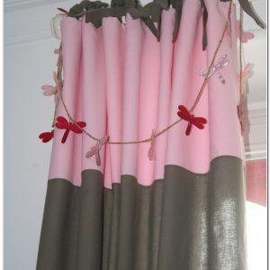 Rideau Chambre Fille Rose Et Gris
