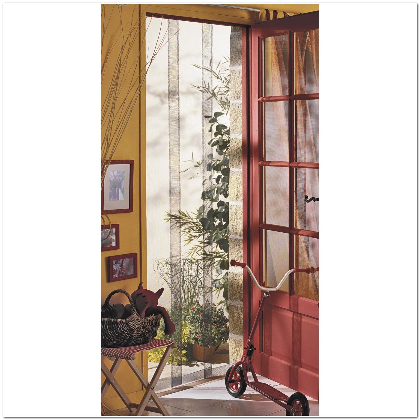 Rideau De Porte Moustiquaire Arles 4 Bandes 100x220 Cm
