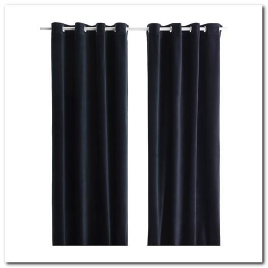 Rideau Velours Noir Ikea