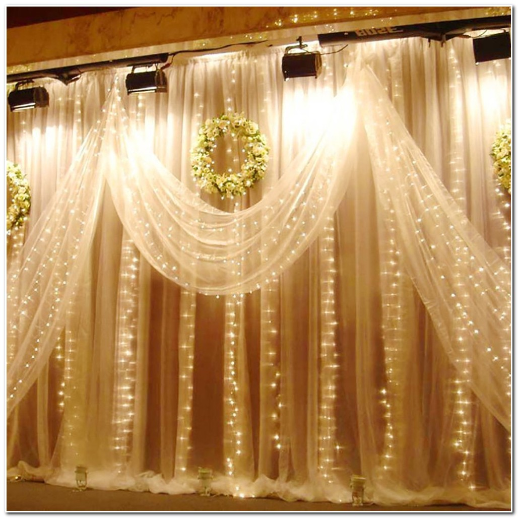 Rideaux Lumineux En Organza Et Led Rideau Idees De Decoration De
