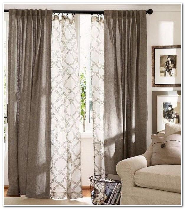 Rideaux Salon Design Blanc