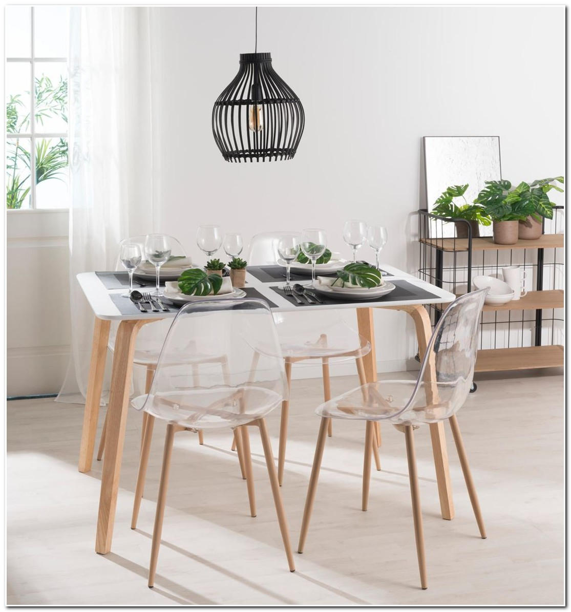 Chaise Salle à Manger Design Transparente