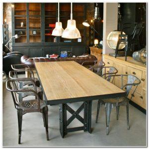 Table De Salle à Manger Design Industriel