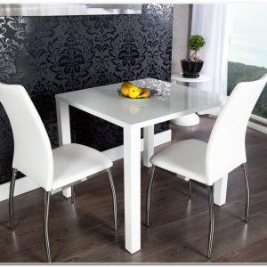 Table De Salle A Manger Carree Blanc Laqué