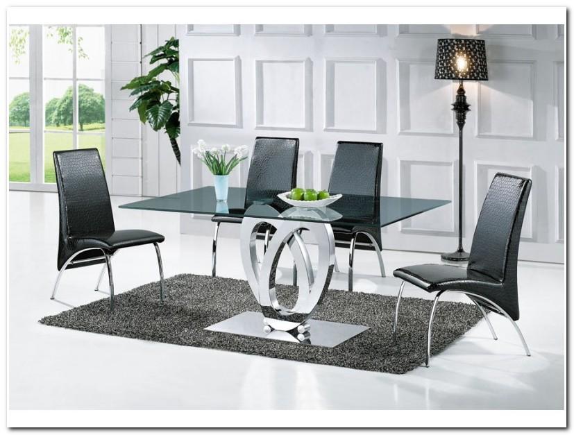 Table De Salle A Manger Design En Verre